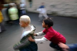 ©PHOTOPQR/LE REPUBLICAIN LORRAIN/BROCARD Pascal jeux en cour de recreation a jussy (moselle)